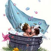 Bubble Bath Art Print by Isabella Kung