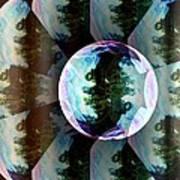 Bubble Illusion Catus 1 No 1 V Art Print