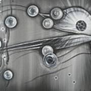 Bubbles In Grey Art Print