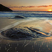 Bubbles On The Sand Art Print by Mike  Dawson