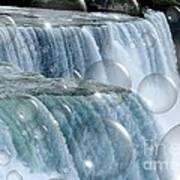 Bubbles Over Niagara Falls Art Print