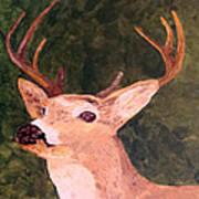 Buck Portrait Art Print