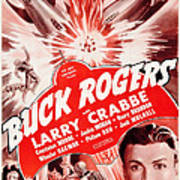 Buck Rogers, Bottom Larry Crabbe Art Print