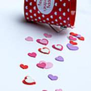 Bucket Of Hearts Art Print