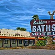 Buckhorn Baths Motel Art Print by Brian Lambert