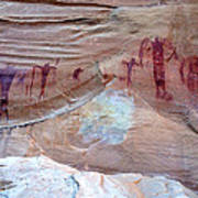 Buckhorn Wash Barrier Canyon Style Pictographs  Art Print
