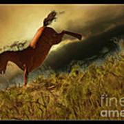Bucking Horse Art Print