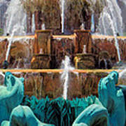 Buckingham Fountain Closeup Art Print