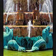 Buckingham Fountain Closeup Poster Art Print