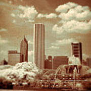 Buckingham Fountain In Chicago Art Print