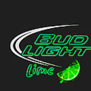 Bud Light Lime 2 Art Print