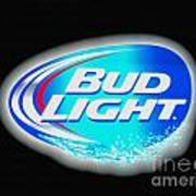 Bud Light Splash Art Print