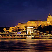 Buda Castle And Chain Bridge Art Print