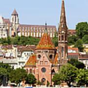 Buda Reformed Church In Budapest Art Print