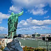 Budapest. View From Gellert Hill Art Print by Michal Bednarek