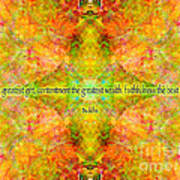 Budda Quote On Life Art Print