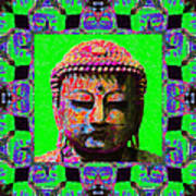 Buddha Abstract Window 20130130m180 Print by Wingsdomain Art and Photography