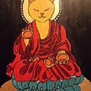 Buddha Cat Asian  Art Print