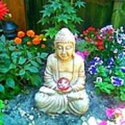 Backyard Buddha Art Print