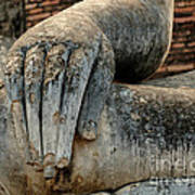 Buddha Hand Thailand Art Print
