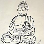 Buddha In Black And White Art Print