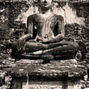 Buddha In Meditation Statue Art Print