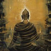 Buddha. Nirvana Ocean Art Print by Vrindavan Das