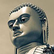Buddha On Top Of Golden Temple Of Dambulla Art Print