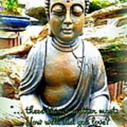Buddha Quotes Art Print