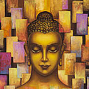Buddha. Rainbow Body Art Print