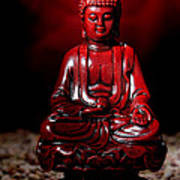 Buddha Statue Figurine Print by Olivier Le Queinec