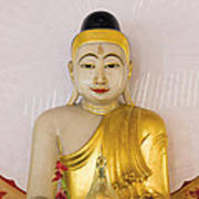 Buddha Statue In Thailand Temple Altar Art Print