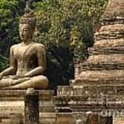 Buddha Sukhothai Thailand 6 Art Print