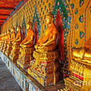 Buddhas At Wat Arun, Bangkok Art Print