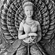 Buddhist Carving 02 Art Print