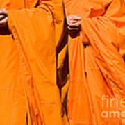 Buddhist Monks 02 Art Print
