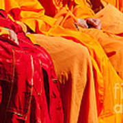 Buddhist Monks 04 Art Print by Rick Piper Photography