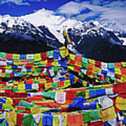 Buddhist Prayer Flags With Meili Art Print