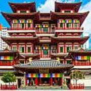 Buddhist Temple In Singapore Art Print