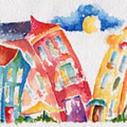 Buddy Buildings Art Print