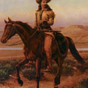 Buffalo Bill On Charlie Art Print