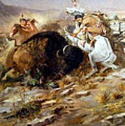 Buffalo Hunt Art Print by Charles Russell