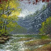 Buffalo River Bluff Art Print by Timothy Jones