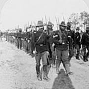 Buffalo Soldiers Of The 24th U.s Art Print