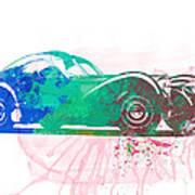 Bugatti Atlantic Watercolor 1 Art Print