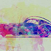 Bugatti Atlantic Watercolor 3 Print by Naxart Studio