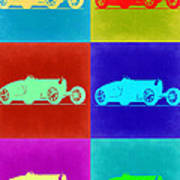 Bugatti Type 35 R Pop Art 2 Print by Naxart Studio