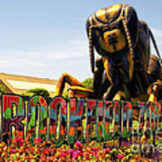Bugs At Brookfield Zoo Signage Art Print