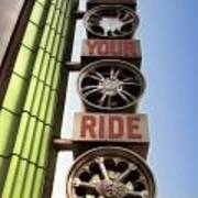 Build Your Ride Signage Downtown Disneyland 01 Art Print