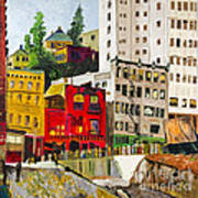 Building A City By Stan Bialick Art Print